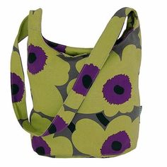Make your purse part of your outfit. Marimekko Unikko Green/Purple Magone Bag - $115