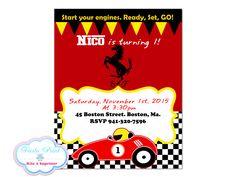 FERRARI Birthday Invitation Printable #FerrariBirthday #FerrariPrintable