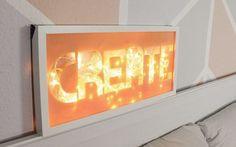 Nastja von DaWanda und DIY Eule zeigt Dir, wie Du einen typografischen Leuchtkasten bauen kannst.