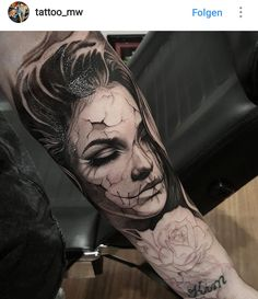 forearm tattoos toman tattoos toman sleeve shoulder tattoos toman tattoos toman classy back t Girl Face Tattoo, Face Tattoos, Badass Tattoos, Tattoo Girls, Leg Tattoos, Body Art Tattoos, Girl Tattoos, Sleeve Tattoos, Arte Punk