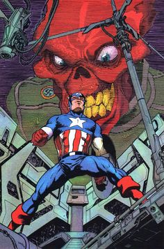 Captain America and Red Skull by Juanjo Guarnido *