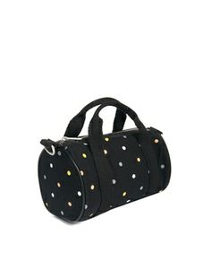 Image 4 of Fred Perry Barrel Bag in Polka Dot