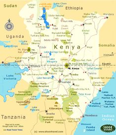 map of kenya with cities - Google Search