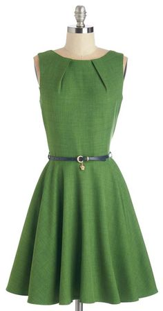 Luck Be a Lady Dress in Fern