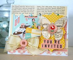 #October Afternoon Modern Homemaker collections and #GlueArts adhesives. Designed by Kristen Swain.