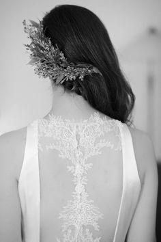 The bride is Szandra / wearing a Nora Sarman custom made wedding dress