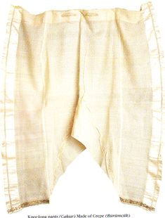 Pair of crepe silk çakshir from the 16th century. These are women's drawers.