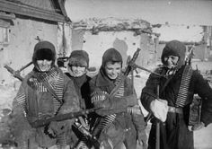 Russian Boys at Stalingrad with Captured German Machine Guns (February 1943)