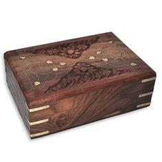 Handmade Wood Jewelry Boxes Brass Inlay Work