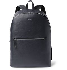 <a href='http://www.mrporter.com/mens/Designers/Hugo_Boss'>Hugo Boss</a>' 'Timeless' backpack is the smart solution for busy commuters. Made from textured-leather that's both visually interesting and durable, it's sized to hold a full day's kit, including your laptop and a change of gym clothes for after-work sessions.