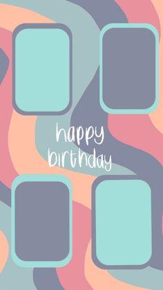 Birthday Captions Instagram, Birthday Post Instagram, Happy Birthday Posters, Happy Birthday Wallpaper, Creative Instagram Photo Ideas, Instagram Story Ideas, Instagram And Snapchat, Instagram Blog, Birthday Collage