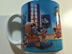 VINTAGE THE DISNEY STORE MICKEY MOUSE THROUGH THE YEARS WRAP AROUND CUP/MUG