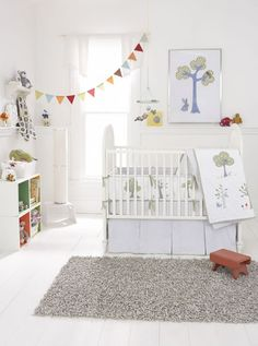 In love with this modern, animal-themed nursery
