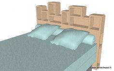 Patron de meuble en carton Tête de lit 2 personnes modèle Haustin Atelier Chez Soi P21 - Créer ses meubles en carton