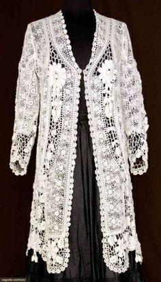 Irish Crochet Lace Coat  1900  Augusta Auctions by Trillado