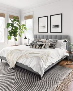 Home Interior Design Newton Charcoal/Ivory Area Rug - Magnolia Home by Joanna Gaines.Home Interior Design Newton Charcoal/Ivory Area Rug - Magnolia Home by Joanna Gaines Room Ideas Bedroom, Home Decor Bedroom, Bedroom Rugs, Ivory Bedroom, Master Bedroom Decorating Ideas, Adult Bedroom Ideas, Bedroom Interior Design, Charcoal Bedroom, Small Bedroom Ideas For Couples