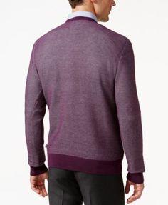 Michael Kors Men's V- Neck Sweater - Purple XXXL