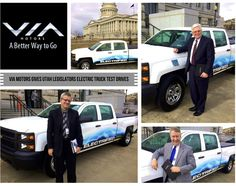 VIA Motors offers Utah senators and representatives a test drive in our 100mpg, 402HP, extended-range electric truck around the Utah State Capitol. Cherise Udell and Utah Moms for Clean Air arranged the free rides to show legislators what is possible with green vehicles for state fleets and Utah consumers.  Representative Edward Redd, Senator Lowry Snow, & Senator John Valentine test drove the vehicle. #senatorlowrysnow #representativeedwardredd #senatorjohnvalentine