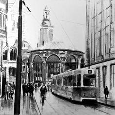 """Saatchi Art Artist Denny Stoekenbroek; Drawing, """"The Hague"""" #art"""