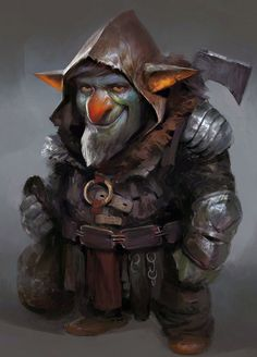 m Half Gnome Half Goblin Fighter Rogue Thief multi-class med Armor Axe Yuan Cui Fantasy Races, Fantasy Warrior, Fantasy Rpg, Medieval Fantasy, Fantasy Artwork, Fantasy Character Design, Character Concept, Character Inspiration, Character Art