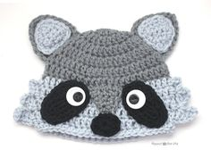 Crochet Raccoon Hat - Repeat Crafter Me, free pattern 9/15