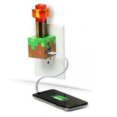 MojangMinecraft Redstone Torch USB Wall Charger by ThinkGeek