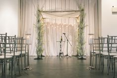 Photography by Assaf Friedman.  Winter Wedding Ceremony at The Warehouse Event Venue in Toronto. Unique Wedding Venue (www.thewarehousevenue.com)