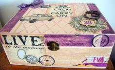 Caja decoupage   scrapbooking   pintura: un 600 muy adornado