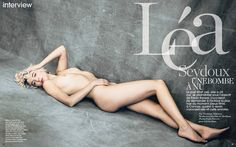 """MARIE CLAIRE FRANCE: Lea Seydoux in """"Une Bombe A Nu"""" by ..."""