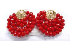 Tatting Jewelry, Bead Jewellery, Wire Jewelry, Jewelry Crafts, Fancy Earrings, Diy Earrings, Earrings Handmade, Handmade Jewelry, Beaded Jewelry Patterns