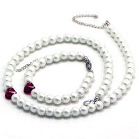 Oceľový set s perličkami a Swarovski srdiečkami Beaded Necklace, Pendant Necklace, Swarovski, Pearls, Jewelry, Jewlery, Beads, Schmuck, Beaded Necklaces