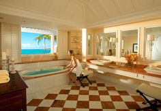 Sandals Emerald Bay will exceed your expectations of a Bahamas hotel. Enjoy vacation packages from the all inclusive Bahamas resort, featuring a luxury spa, private suites, butler service, and more in Great Exuma. Sandals Bahamas, Exuma Bahamas, Caribbean Beach Resort, Caribbean Vacations, Vacation Deals, Vacation Resorts, Beach Resorts, Top Honeymoon Destinations, Honeymoon Ideas