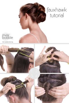 Feeling a little Rock 'n' Roll today? Try our easy fauxhawk tutorial and rock on, girls!