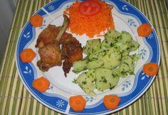 Nyúlhús zacskóban sütve Tandoori Chicken, Cauliflower, Meat, Vegetables, Ethnic Recipes, Food, Cauliflowers, Essen, Vegetable Recipes