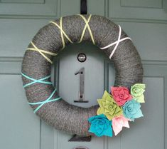 Love this wreath for spring!