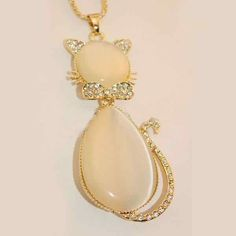 NECKLACE NECKLACE EXPENSIVE JEWELRY PENDANT JEWEL CHAIN CUTE OPAL $10.20  $8.67 2 Review(s) | Add Your Review IN STOCK This item is Graceful Cute Opal Cat Pendant Necklace Jewel Sweater Chain. According to your own personal preferences, you can match it with beautiful clothes in different seasons. The following occasions, anniversary, engagement, party, wedding, etc. are propitious to wear it.