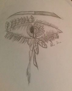 The Eye Sketch on paper