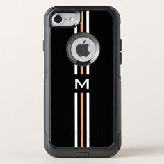 Stripes Monogram OtterBox Commuter iPhone 8/7 Case Custom Brandable Electronics Gifts for your buniness #electronics #logo #brand