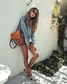 """JULIE SARIÑANA on Instagram: """"Running errands in @shop_sincerelyjules Cali jean jacket. / shop: shopsincerelyjules.com"""""""