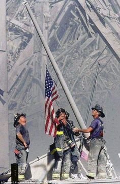 Iconic Ground Zero picture was nearly axed from 9/11 museum because it was too 'rah-rah' American 7/28/13 {sarcasm}well, of course Americans can't show their patriotism it's not politically correct!
