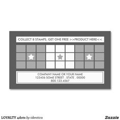 LOYALTY 4dots Double-Sided Standard Business Cards (Pack Of 100)