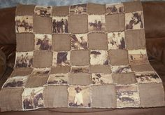 Custom Made Photo Memory Rag Quilt/ Lap Quilt/ Couch Throw | blackberrythyme - Quilts on ArtFire