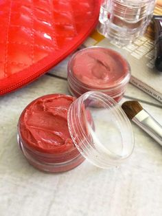 Mica Powder Lip Stain DIY recipe - Just 2 Ingredients! Save money by making your own lip stain!