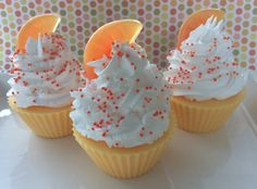 Cupcake Soap Clementine Cupcake glycerin by SeasideSoapKitchen, $4.95