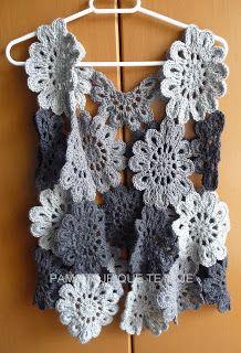 Crochet Jacket, Crochet Poncho, Crochet Cardigan, Freeform Crochet, Crochet Stitches, Crochet Patterns, Crochet Tank Tops, Knit Crochet, Gilet Kimono