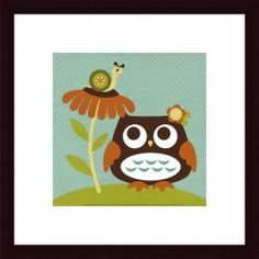 @Overstock - Artist: Nancy LeeTitle: Owl Looking at SnailProduct type: Framed print