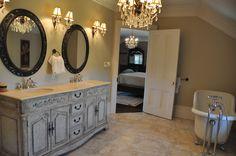 Luxury Bathroom  #Luxury #MasterBathroom #LuxuryBathroom www.CarmineSturino.com Luxury Real Estate, Double Vanity, Master Bathroom, Home, Master Bath, Ad Home, Master Bathrooms, Homes, Haus