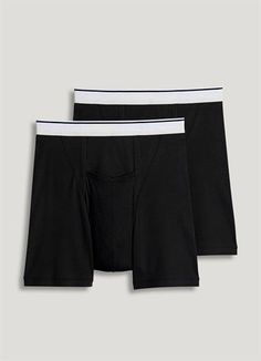 Jockey Men's Underwear Pouch Boxer Brief - 2 Pack, black, XL Style 1146 Full rise and full coverage cotton/ Lycra® spandex Horizontal-fly design Machine wash and dry Jockey Men's Underwear, Jockey Mens, Men's Boxer Briefs, Big Men, Lycra Spandex, Thighs, Cotton Fabric, Supreme