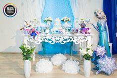 Decoração Mesa Frozen - Tema lindo para Festa Infantil de meninas