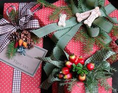 Like the fresh evergreens in the wrapping, even for non-Christmas gifts